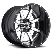 4 22x10 Fuel Chrome W/ Gloss Black Maverick Wheel 8x170 For 03-19 F250 F350