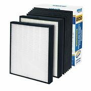 Veva Premium 2 Hepa Replacement Filter Pack With 6 Activated Carbon Pre Filters