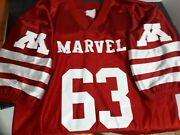 Marvel Jersey Incredible Hulk 63 Red Holographic Sz Large Authentic 1963
