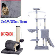Cat And Kitten Tree Play Scratching Climbing Post Activity Sisal Toy Pet Grey S247