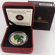 2010 Canada 20 Maple Leaf Crystal Raindrop Coloured Proof Fine Silver Coin