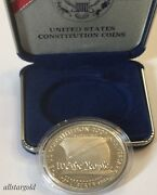 1787 - 1987 S 200th Anniversary Us Constitution 'we The People' Silver Dollar