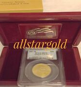 2007-w Burnished 1/2 Oz Gold First Spouse Abigail Adams Pcgs Ms-7013777835