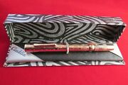 Vintage Conklin Stars And Stripes Fountain Pen 3 Nib Crescent Filled Restored