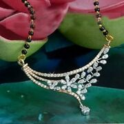 Black Friday 2.30ct Natural Diamond 14k Solid Yellow Gold Necklace Mangalsutra