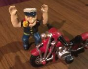 Popeye Outlaw Cast Iron Motorcycle 4+lb Man Cave 8+inch Collector Patina Sailor