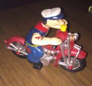 Popeye Cast Iron Motorcycle Huge 4.25 Lbs Man Cave Harley Triumph Collector