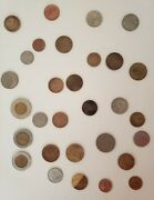 Old Foreign Coins From Multiple Different Countries. Some Are Unknown