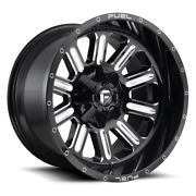 4 17x9 Fuel Black And Milled Hardline Wheel 5x114.3 And 5x127 Ford Jeep Toyota Gm