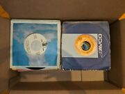 Vinyl Records 45 Rpm, Lot Groups Of 100. Covered And Uncovered, Condition Varies