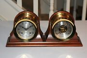 Chelsea Shipand039s Bell Clock And Barometer Set 4-1/2 Inch Boston U.s.a. Vintage