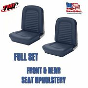 Front And Rear Seat Upholstery Blue Vinyl Made In Usa By Tmi 1964 And1965 Mustang