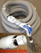 Vacuflo Turbogrip Central Vacuum Hose Fit All Universal Style 1.5 Inlet Valve