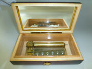 Vintage Reuge Music Box 72 Key Play Polonaise, March By Bach And Gavotte By Handel