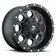 4 20x9 Fuel Black And Mill Revolver Wheel 5x114.3 5x127 For Jeep Toyota Gm