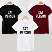 Cat Person T-shirt B - Cute Funny Christmas Birthday Gift Cat Lady Lover Meow
