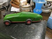 Triang Minic Racing Car Green No 9 With.key Working