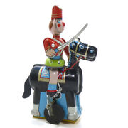 1960s Cavalry Soldier Tin Wind Up Toy Tps Japan Scarce