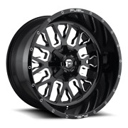 4 22x12 Fuel D611 Gloss Black Stroke Wheel 5x114.3 And 5x127 For Jeep Toyota Gm