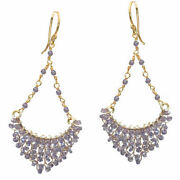 Your Choice Of Rondelles Wrapped On Hammered Chandelier Shaped Earrings