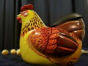Andldquohen Laying Eggs 60s Mint/box Battery Op Perfectly Working Rare Vntge Tin Toy
