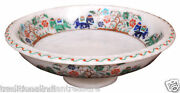 10 White Marble Fruit Bowl Elephant Floral Multi Inlay Design Christmas Decor
