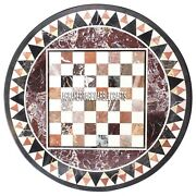 Marble Center Coffee Table Top Mosaic Marquetry Stone Inlay Garden Decor H3983