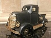 Rustic Vintage Style Black Metal Pickup Truck Farmhouse Country Décor And Gift