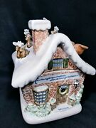 Louisville Stoneware Christmas Cookie Jar Extremely Rare 1992 Repaired