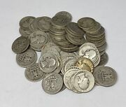 1930's Only Washington Quarters 10 Face Value 90 Silver Roll 40 Coin Bulk Lot