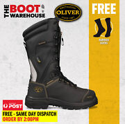 Oliver 65791, At's Steel Toe Safety Mining Work Boots. Chemical Resistant New