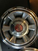 Pontiac Motor Division Oem Hubcaps. 14 Red Center Cap With And039pmdand039.andnbsp Set Of 4