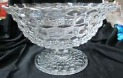 Fostoria Glass American Pattern 12 3/4 D Clear Crystal Tom And Jerry Punch Bowl