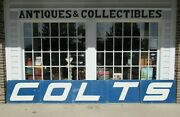 Vintage Game Used Baltimore Colts Cheerleader Signs 5 Colts Aluminum 1970and039s