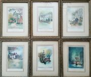 Collection Of 6 Original S. Chester Danforth Color Etchings Signed