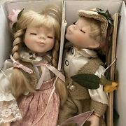 Vintage Cathay Depot Collection Boy And Girl Porcelain Dolls New