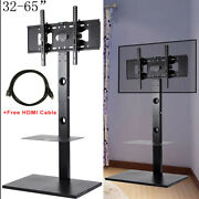 Cantilever Tv Stand With Mount Bracket 2 Shelves For 32 - 65 Inch Plasma Lcd Led