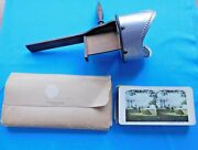 Antique 1904 Monarch Stereoscope Viewer With 36 Cardscaseexcellent Condition