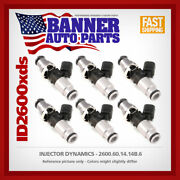 Set Of 6 Injector Dynamics 2600.60.14.14b.6 For Falcon Xr6t Audi Vw 12 Valve