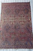 Antique Moroccan Rug Beni Mand039guild 10and039 X 6and039 Navy Taupe Coral Excellent Condition