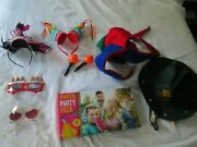 Misc. Lot Of Unique Photo Booth Props Hats Glasses Headbands Silly Jester Funny