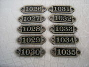 Antique Set Of 10 Locker Number Plates Tags Numbers In Sequence