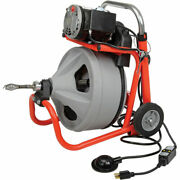 New Ridgid Drum Machine W/bulb Auger And Gloves-115v-6.7amps-1/3hp-75and039l W/3/8