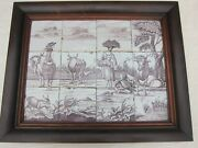 Nice Large Dutch Delft Manganese Tile Tableau 18th. Century