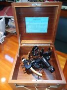 1980 Weems And Plath Sextant In Original Box W/ Keys Beautiful Condition