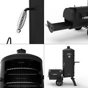 Signature Heavy-duty Vertical Offset Charcoal Smoker And Grill In Black   Series