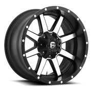 4 20x9 Fuel Black And Machined Maverick Wheel 5x139.7 5x150 For Ford Jeep Gm
