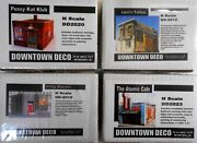 Downtown Deco N Scale 4 Building Kit Set Save 35 Amazing Detail Look And Read