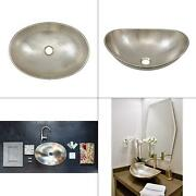 Hobbes 19 In. Handcrafted Vessel Sink In Hammered Nickel   Counter Above Inch