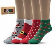 Women's Casual Holiday Low Cut Socks With Gift Box